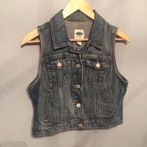 Old Navy sleeveless jean vest
